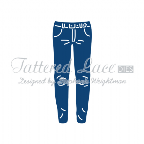 Tattered Lace Die George's Jeans - D725
